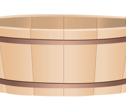 Vector Wooden Bucket