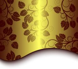 Golden Floral Background Vector Free