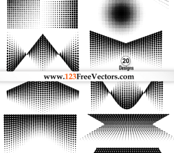 Free Vector Pack: Halftone Elements