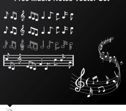 Musical Notes Free Vector Pack