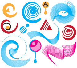 Abstract Vector Shapes Illustrator