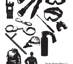 Police Duty Gear Vector Pack