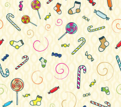 Candy Seamless Pattern Free Vector