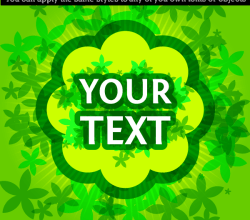 Green Background with Place for Your Text Vector