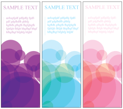Colorful Vertical Banners Vector Free
