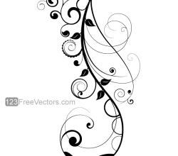 Vector Floral Design 7