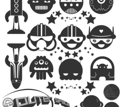 Free Space Illustrator Vector Pack