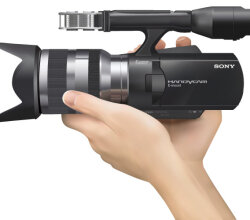 Sony Handycam NEX-VG10 Vector Illustration