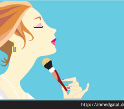 Makeup Girl Vector