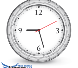 Free Vector Office Clock