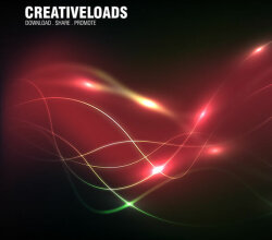 Abstract Glowing Wavy Lines Light Background