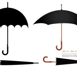 Umbrella Free Vector Set