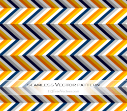 Orange, Grey, Navy and Yellow Chevron Pattern Background