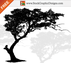 Free Vector Art Tree Silhouette