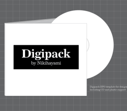 Vector Digipak Template