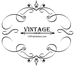 Vintage Calligraphy Frame Vector Graphics