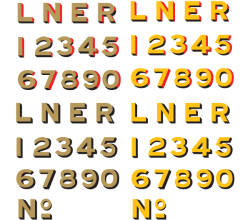 LNER Old Style Typeface Vector