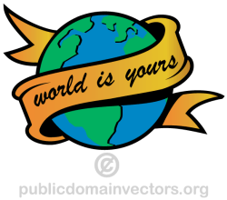 World is Yours Vector Art