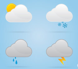 Vectors Cloud Weather Icons