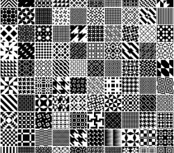 Vector Monochrome Geometric Patterns