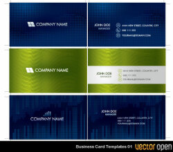 Vector Business Card Templates 01