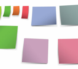 Vector Blank Post-it Notes