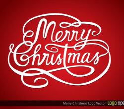 Merry Christmas Logo Vector
