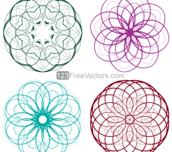 Vector Circle Decorative Design Elements Set-5