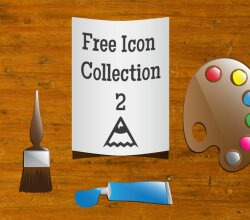 Artist Icons Free Vector Art