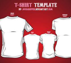 T-shirt Template Front and Back Vector Illustrator