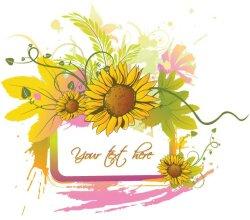 Summer Floral Frame Free Vector