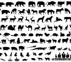 Animals Silhouettes Free Vector Collection