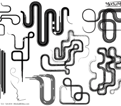 Line Art Design Elements Vector Set-4
