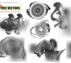 Halftone Free Vector