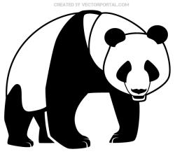 Panda Bear Silhouette Image