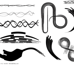 Line Art Design Elements Vector Set-3