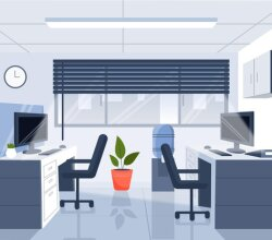 Office – background for video conferencing Free Vector