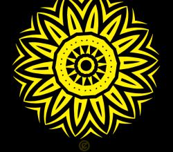 Vector Circle Tribal Tattoo Design