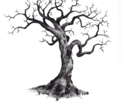 Tree with root Free Vector