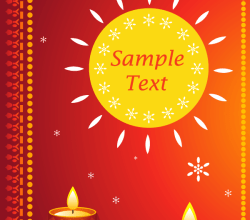 Happy Diwali Greeting Cards Vector
