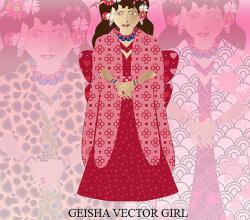 Japanese Geisha Girl Vector