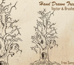 Free Hand Drawn Tree Vector