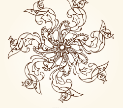 Hand Drawn Flower Designs
