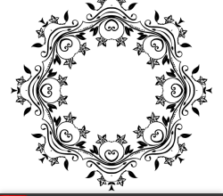 Vector Flower Ornate Frame Design