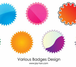 Web 2.0 Badges Free Vector
