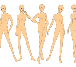 Fashion Drawing Base Templates: Woman's Figure