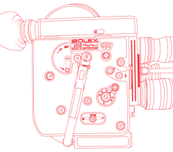 Vector Bolex H16 Reflex Camera Outline