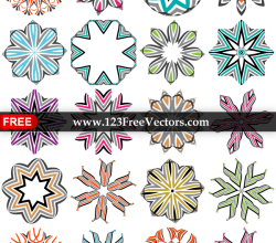 Abstract Vector Decorative Design Elements in Color
