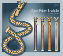 Zipper Brush Set Illustrator Free Brush Set