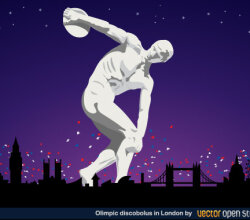 Olympic Discobolus in London 2012
